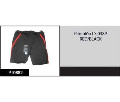 Pantalon LS 038P RED/BLACK